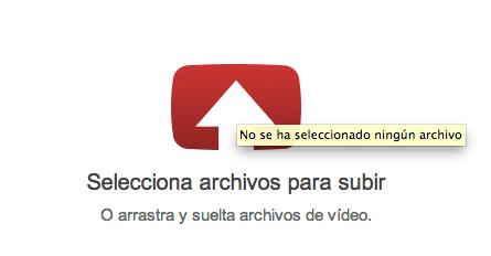 Cargar vídeo en Youtube