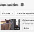 Seleccionar vídeo YouTube