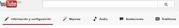 Opciones edición YouTube
