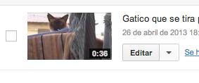 Editar vídeo YouTube