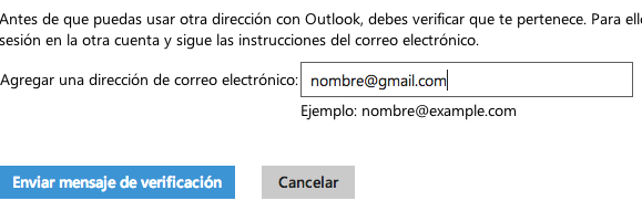 enviar verificacion hotmail gmail