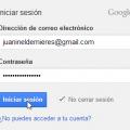 Iniciar sesión Google