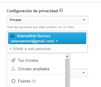 Invitar video privado en YouTube