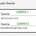 Selector remitente hotmail