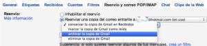 Tipo de reenvío Gmail/Hotmail
