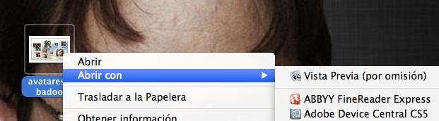 Abrir con vista previa en Mac