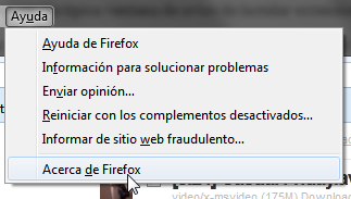 Acerca de Firefox