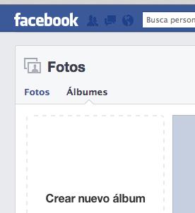 Crear álbum de fotos en Facebook