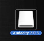 Audacity Montado