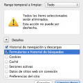 Borrar historial Firefox