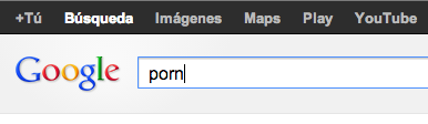 Buscar porno en Google