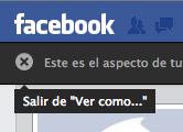 Cerrar ver como Facebook