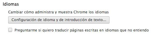 Desactivar traducción Chrome
