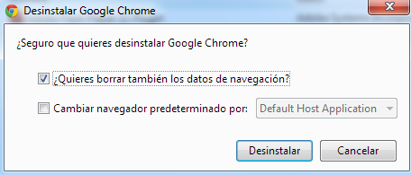 Desinstalar Chrome en Windows