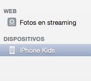 Dispositivos iPhoto
