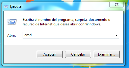 Ejecutar CMD Windows