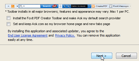 Foxit Ask Toolbar