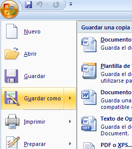 Guardar Word como PDF Office 2007