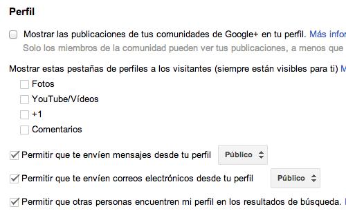 Mensajes Perfil Google Plus