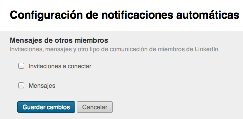 Notificaciones automaticas LinkedIn