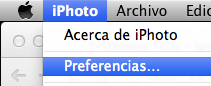 Preferencias iPhoto
