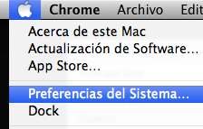Preferencias sistema Mac