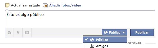 Privacidad de publicación en Facebook