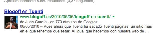 Datos de autor en la búsqueda de Google