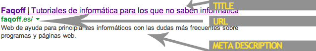 Ejemplo SERP en Google