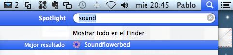 Abrir Soundflowerbed