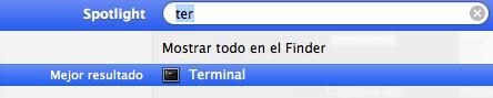 Abrir Terminal en Mac