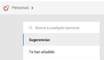 Sugerencias Google Plus