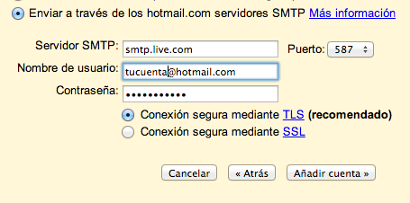 TLS Hotmail Gmail