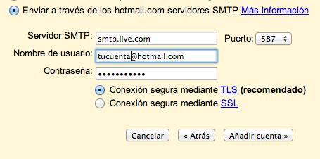 TLS Hotmail Gmail