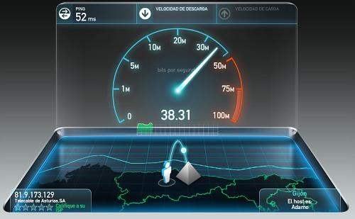 Velocidad Conexion Internet