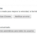 Version Chrome Actualizar