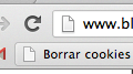 Bookmarklet borrar cookies