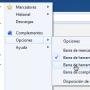 Mostrar barra de marcadores en Firefox