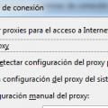 Sin proxy en Firefox