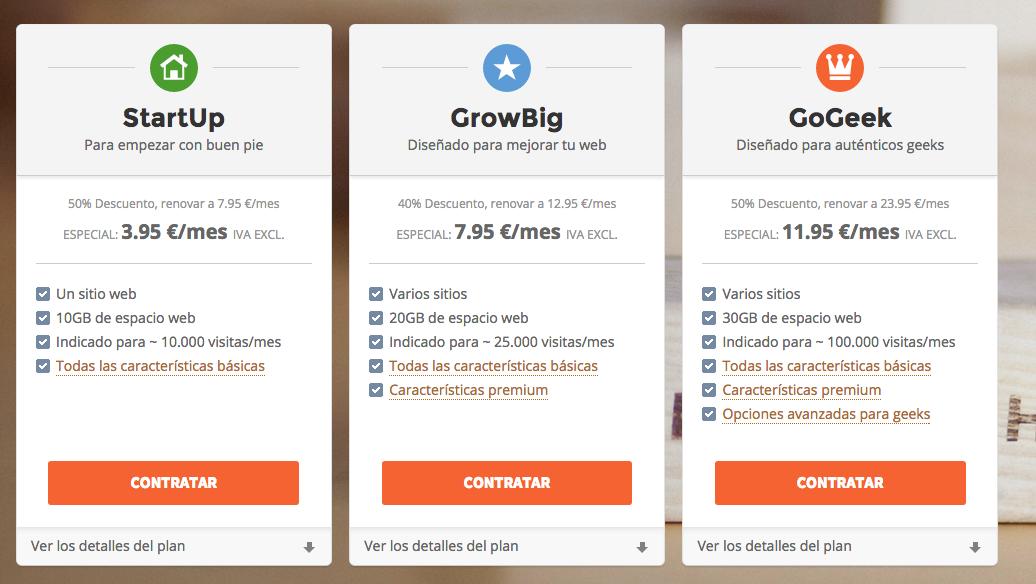 comparativa siteground
