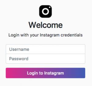 Iniciar Sesión en Instagram con IG:dm