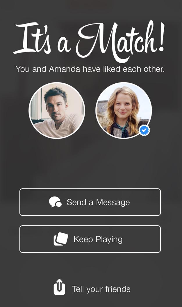 Hacer match en Tinder